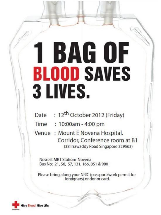 Singapore Red Cross Blood Donation Drive Mount E Novena