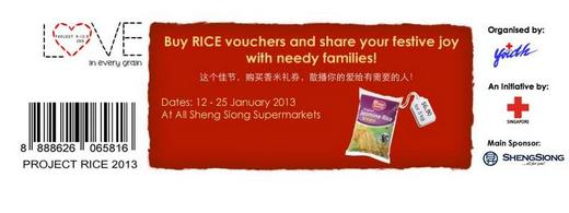 Project Rice 2013 Rice Vouchers