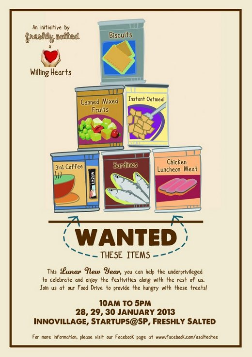 A Salted Tee Food Drive @ Singapore Polytechnic (28 - 30 Jan 2013)