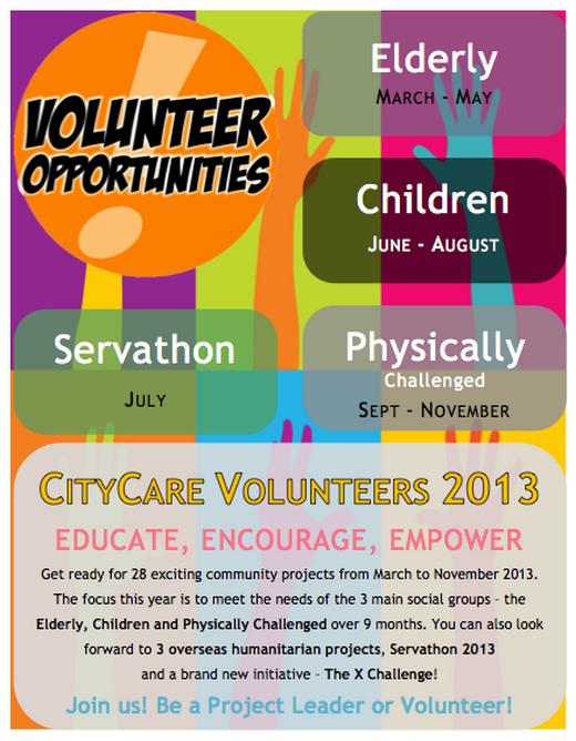 CityCare Volunteering Opportunities 2013