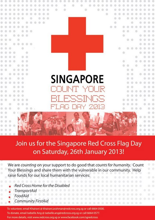 Singapore Red Cross Flag Day 2013