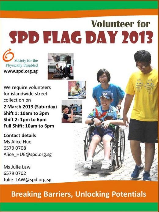 Volunteer for SPD Flag Day 2013