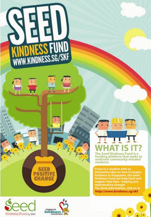 Volunteers to promote Spore Kindness Movement Kindness Fund