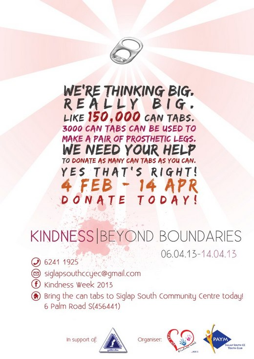 Kindness Week 2013 - Donate can tabs!