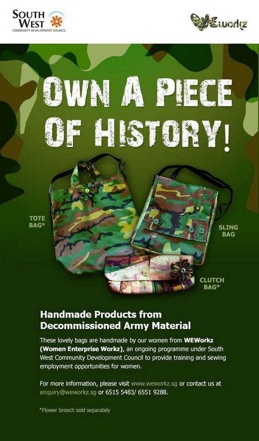 Own A Piece of History - CAMOU Bags For Sale!