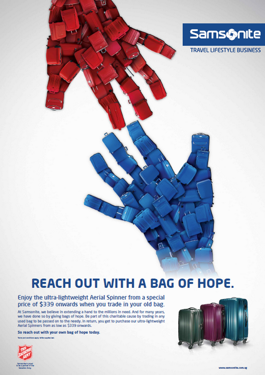 Reach out with a Bag of Hope with Samsonite!