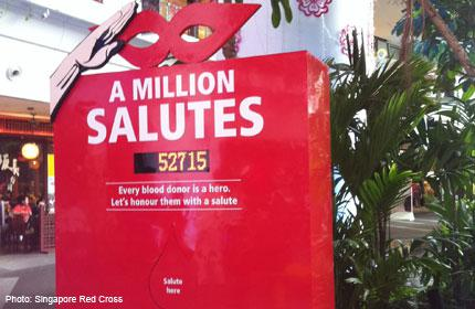 Salute blood donors at 'counters'