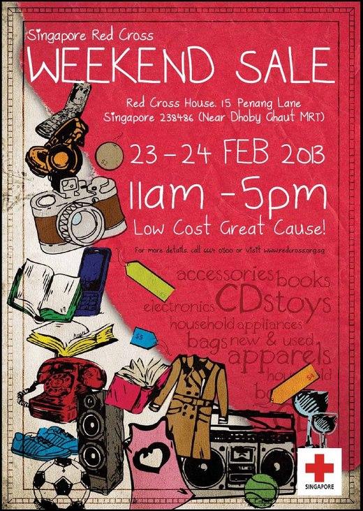 Singapore Red Cross Weekend Sale (23 - 24 Feb 2013)