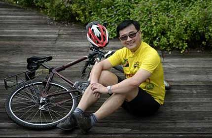 S'porean cycling to China for charity