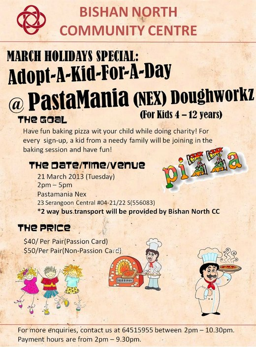 Adopt A Kid For A Day @ PastaMania