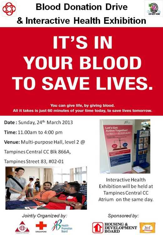 Blood Donation Drive & Interactive Health Exhibition (24 Mar 2013)