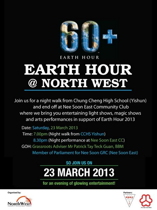 Earth Hour 2013 @ North West