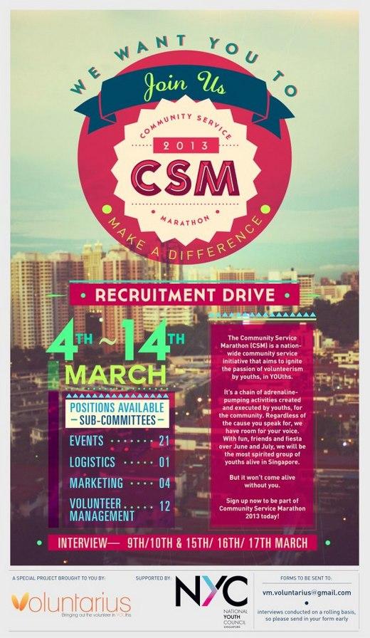 Join the Community Service Marathon 2013