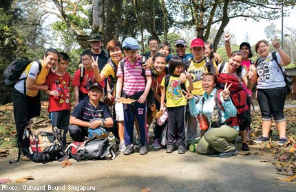 Youths volunteer at Outward Bound Singapore