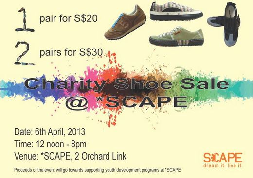 Charity Shoe Sale @ SCAPE (6 Apr 2013)