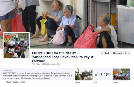 'Chope' food for the needy