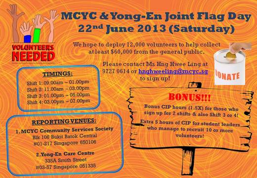 MCYC & Yong-En Joint Flag Day (22 June 2013)