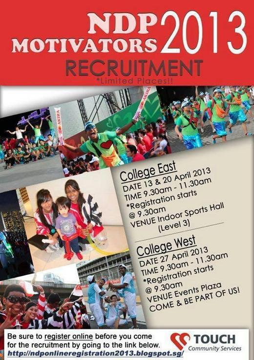 NDP Motivators Recruitment 2013