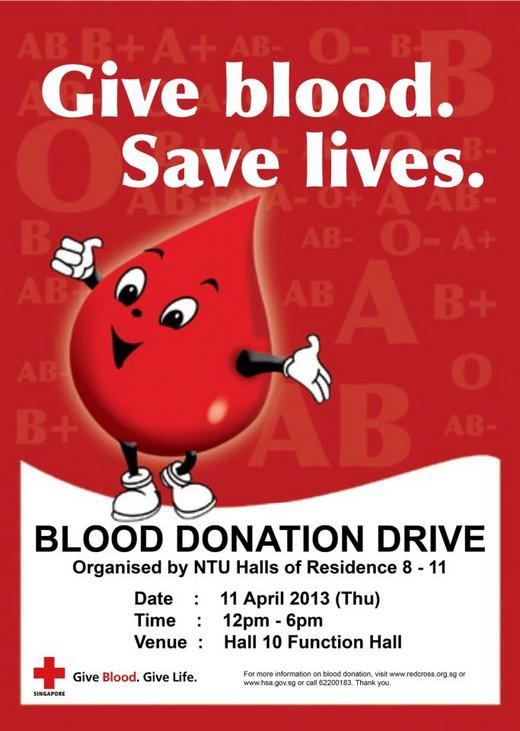 NTU Halls of Residence Blood Donation Drive (11 Apr 2013) | SG ...