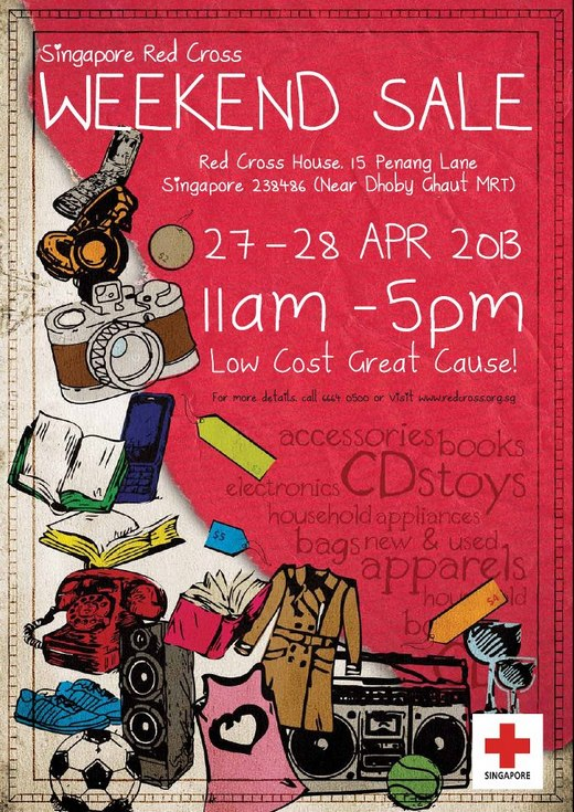 Singapore Red Cross Weekend Sale (27 - 28 Apr 2013)