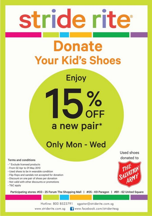Stride Rite Donate Your Kid's Shoes & Enjoy 15 Discount