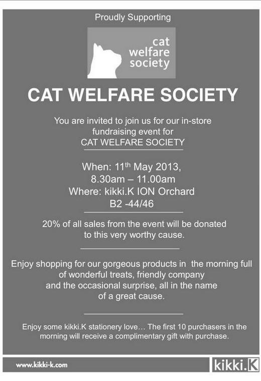 Cat Welfare Society Fund Raising Event @ kikki.K ION Orchard
