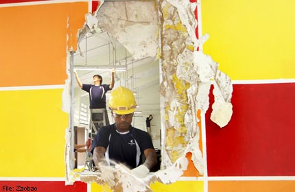 Firms chip in to give charity's building a free makeover