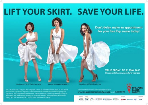 Life your skirt, Save your life, today!