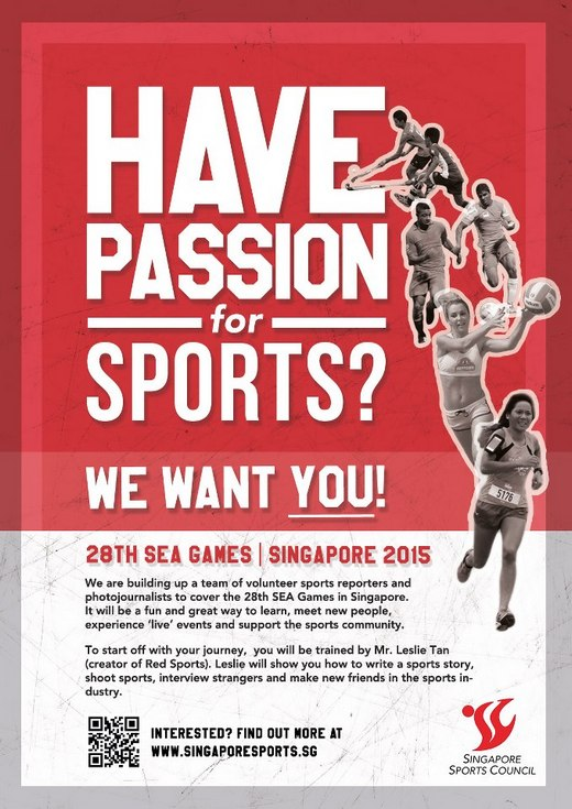 Volunteer for the 28th SEA Games Singapore 2015