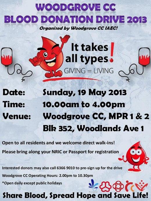 Woodgrove Blood Donation Drive 2013