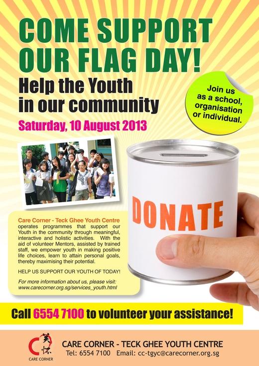 Care Corner Flag Day (10 Aug 2013)