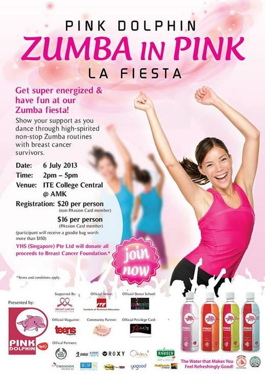 Pink Dolphin Zumba In Pink La Fiesta 2013
