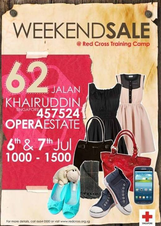 Singapore Red Cross Weekend Sale (6 - 7 Jul 2013)