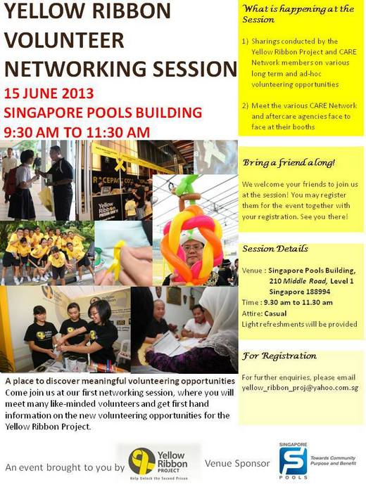Volunteers needed for Yellow Ribbon Volunteer Networking Session