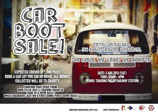 Charity Car Boot Sale @ Old Tanjong Pagar Railway Station (3 Aug 2013)