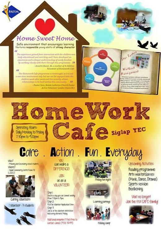 homework cafe siglap