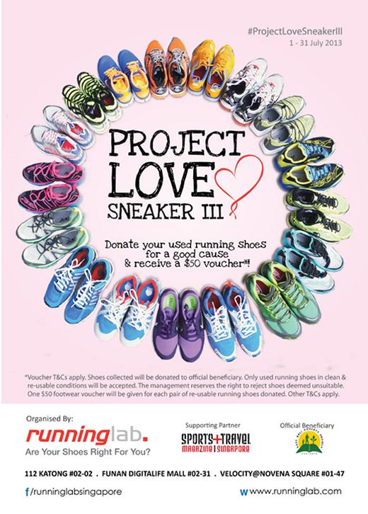 Project Love Sneaker III - Donate Running Shoes & Receive $50 Voucher