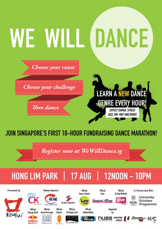 We Will Dance - Be part of Singapores First 10-hour Fundraising Dance Marathon