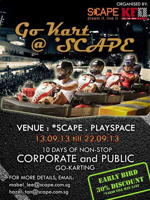 Volunteers needed for Go-Kart @ SCAPE