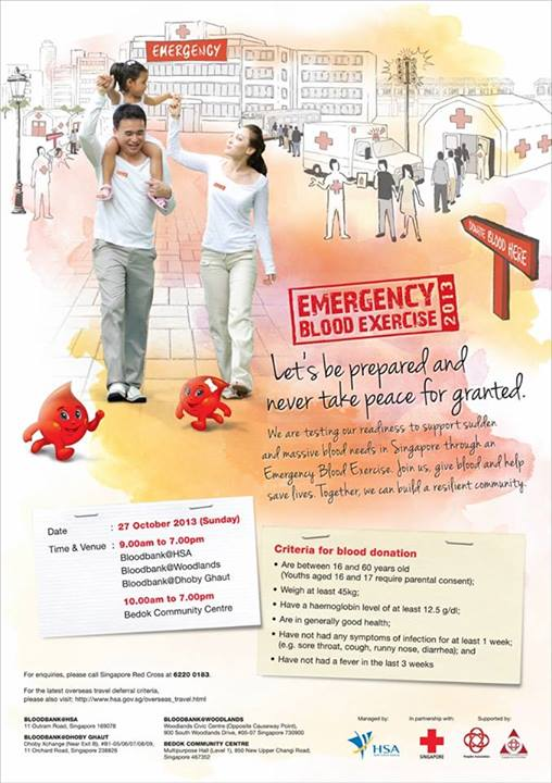 Singapore Red Cross Emergency Blood Exercise 2013