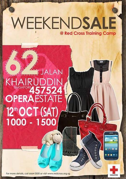 Singapore Red Cross Weekend Sale (12 Oct 2013)
