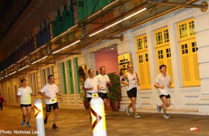 Angels run around Singapore twice to raise funds