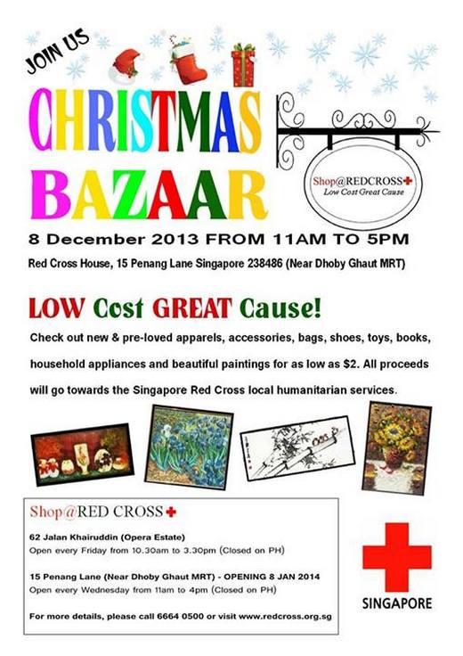 Singapore Red Cross Christmas Bazaar 2013