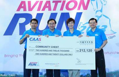 Singapore aviation community raises over $200,000 for the less fortunate