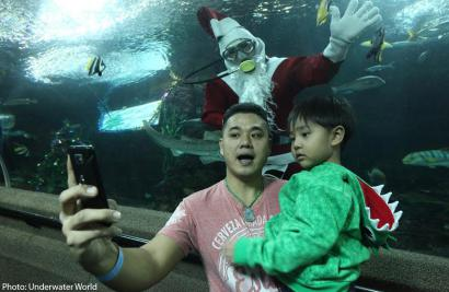 Underwater Santa brings joy to special needs kids