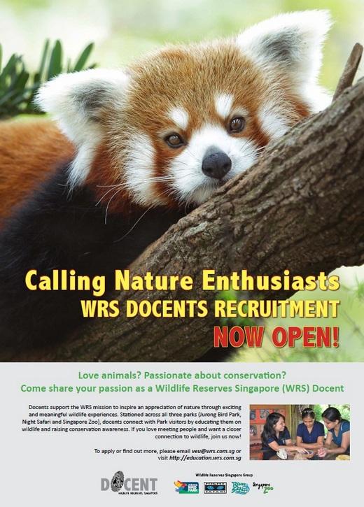 Wildlife Reserves Singapore Volunteer Recruitment Drive 2014
