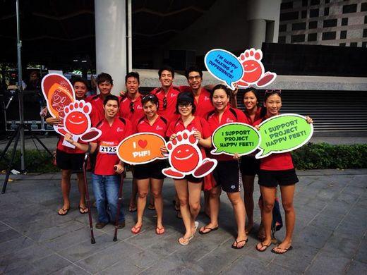 Project Happy Feet Slipper Race raises S$35,000 for needy children