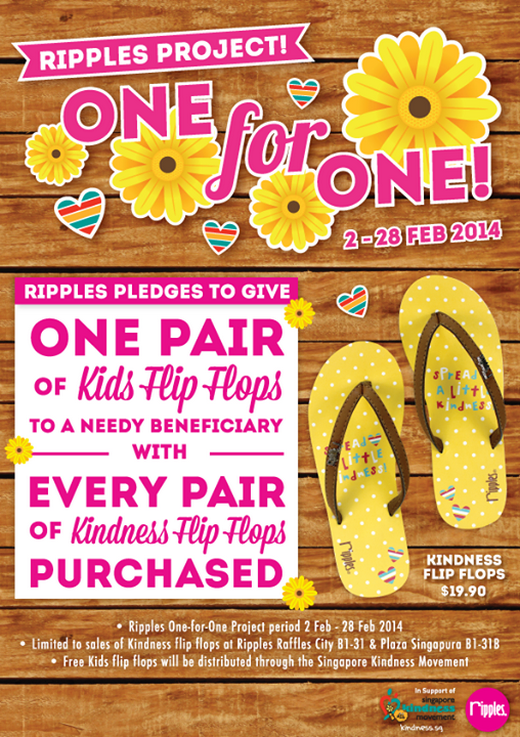 Ripples Kindness Flip Flops Project