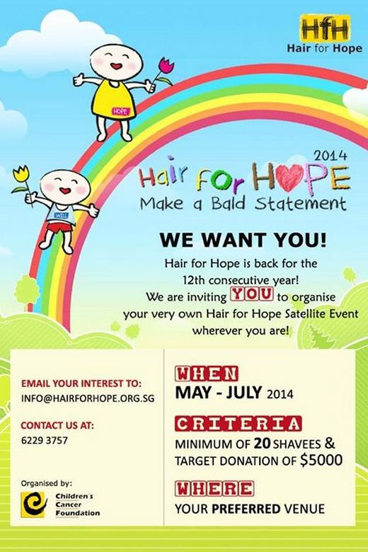 Hair for Hope 2014 - Calling for Satellite Partners!