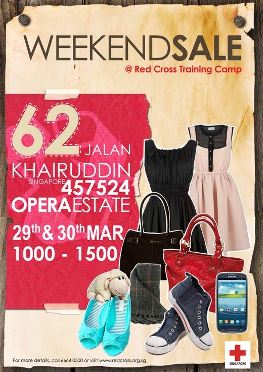 Red Cross Weekend Sale (29 - 30 Mar 2014)